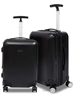 2 Piece Luggage Set Hardside Carry On Suitcase with Wheels Expandable Spinner Suitcase