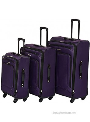 American Tourister Pop Max Softside Luggage with Spinner Wheels Purple 3-Piece Set 21 25 29
