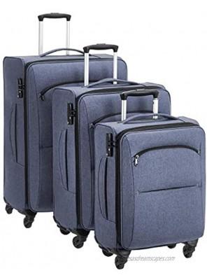 Basics Urban Softside Spinner Luggage 3-Piece Set Blue
