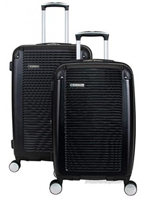 Ben Sherman Norwich Luggage Collection Lightweight Hardside Pet Expandable 8-Wheel Spinner Travel Suitcase Bag Midnight Black 2-Piece Set 20 24