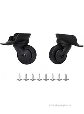 Black Luggage Suitcase Weels Suitcase Caster Wheels Replacement Set of 2 W187 3.26x4.09x2.04Inch