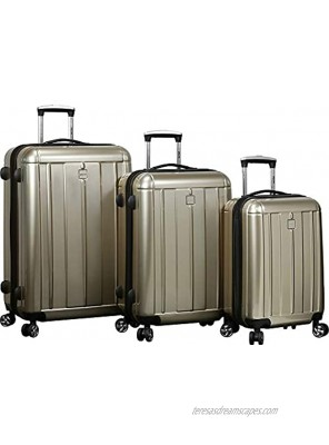Dejuno Contour 3-Piece Hardside Spinner Luggage Set with TSA Lock Champagne One Size