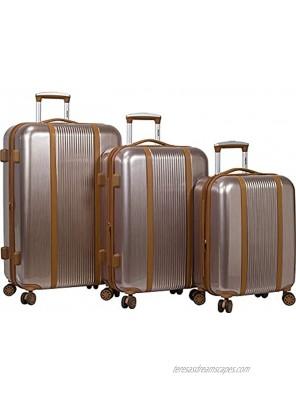 Dejuno Monroe 3-Piece Hardside Spinner TSA Combination Lock Luggage Set Rose Gold One Size