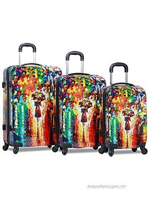 Dejuno Parisian Nights Hardside 3-PC Spinner Luggage Set