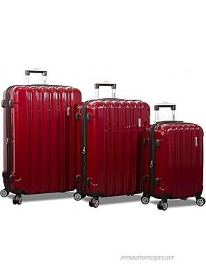 Dejuno Titan Jumbo Hardside 3-PC Spinner Luggage Set with TSA Lock Burgundy One Size