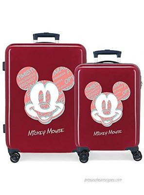 Disney Unisex Kid's Set Trolleys Burgundy 55 68 cms