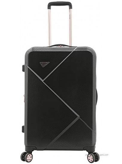 kensie Women's Dawn Hardside 3-Piece Spinner Luggage Set Black 20 24 28