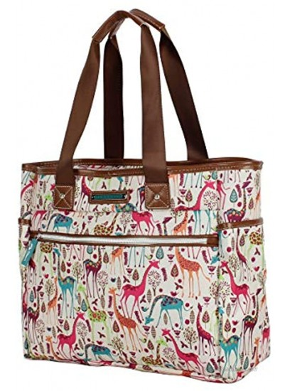 Lily Bloom Luggage Set 4 Piece Suitcase Collection With Spinner Wheels For Woman Giraffe Park