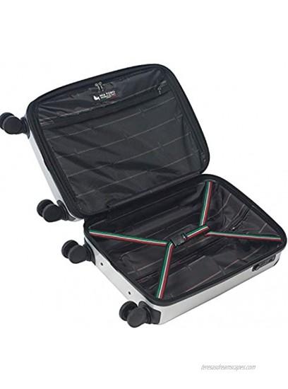 Mia Toro Italy Alluminio Polish Hardside Spinner Luggage 3pc Set Blue One Size