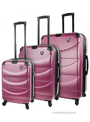Mia Toro Italy Cadeo Hardside Spinner Luggage 3pc Set Violet One Size