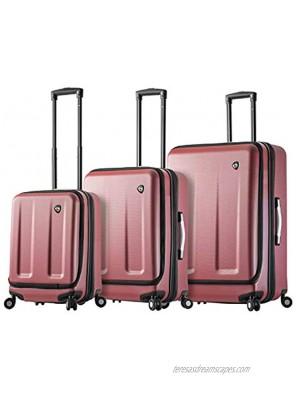 Mia Toro Italy Esotico Hardside Spinner Luggage 3 Piece Set Red One Size