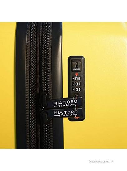Mia Toro Italy Fassa Hardside Spinner Luggage 3 Piece Set Black One Size