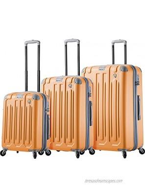 Mia Toro Italy Gelato Hardside Spinner Luggage 3 Piece Set-Melone 03PC