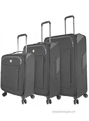 Mia Toro Italy Marano Softside Spinner Luggage 3pc Set Gray One Size