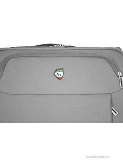 Mia Toro Italy Marano Softside Spinner Luggage 3pc Set Green One Size