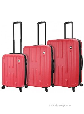 Mia Toro Italy Nuovo Hardside Spinner Luggage 3pc Set-Red One Size