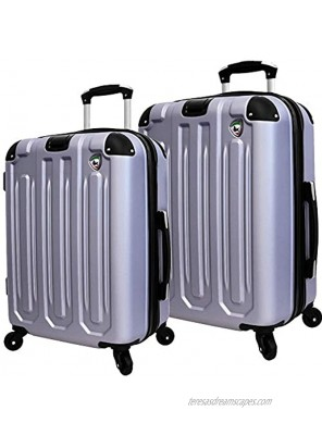 Mia Toro Italy Regale Composite Hardside Spinner Luggage 2pc Set Grey One Size