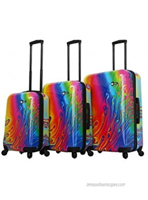 Mia Toro Italy-Vortice Hardside Spinner Luggage 3pc Set Multicolored One Size