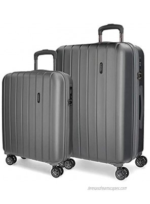 MOVOM Expandable Set of 2 suitcases Anthracite 70 centimeters