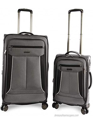 Perry Ellis Luggage Viceroy 2 Piece Set Expandable Suitcase with Spinner Wheels Charcoal One Size