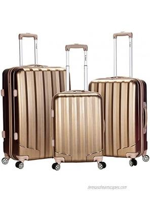 Rockland Santa Fe Hardside Spinner Wheel Luggage Bronze 3-Piece Set 20 24 28