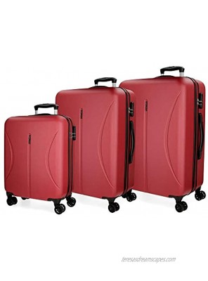 ROLL ROAD Women Luggage Set Red Rojo LargeSize Label:X-Large
