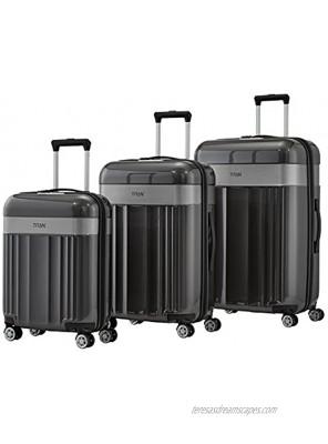 TITAN Unisex_Adult Luggage Set Grey Anthrazit 76 cm