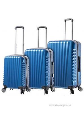 Viaggi Mia Italy Catania Hardside Spinner 3pc Set Blue One Size