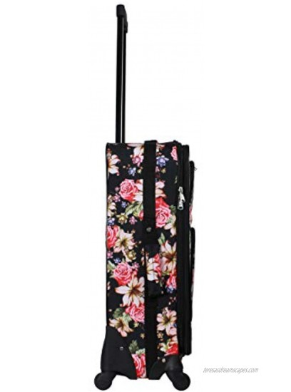 World Traveler 2-Piece Carry-On Expandable Spinner Luggage Set Pineapple Pink One Size