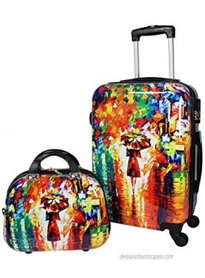 World Traveler Paris Nights Hardside 2-Piece Carry-on Spinner Luggage Set