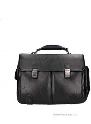 Piquadro Blue Square Briefcase Leather 42 cm Notebook Compartment