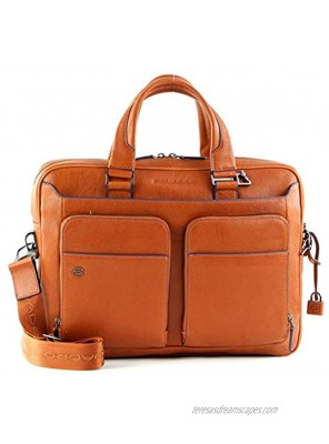 Piquadro Blue Square Special Briefcase Leather 39 cm Notebook Compartment