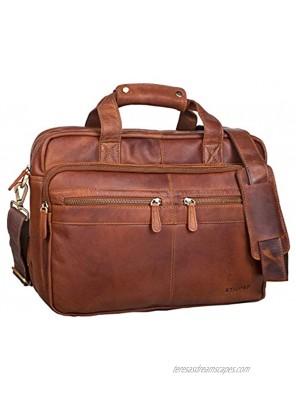 STILORD Teacher's Bag Leather Explorer 20 Liters