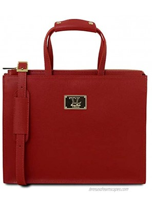Tuscany Leather Palermo Saffiano Leather Briefcase 3 compartments for Women