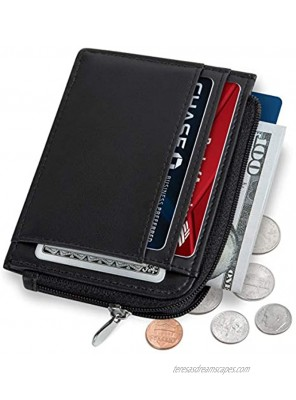 SERMAN BRANDS Small Wallets for Women. Slim Wallet for Women with Coin Purse and Credit Card Holder. RFID Wallet Women Vegan