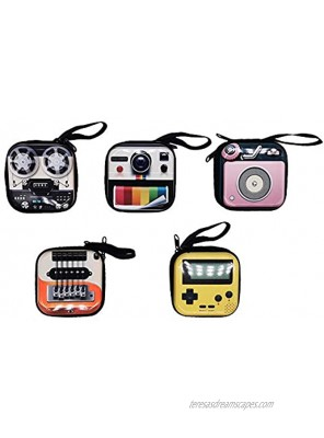 5 Pcs Small Portable Vintage Coin Purse Retro Wallet Key Case Change Purse Coin Bags Boy's Coin Pouch for Girl's Christmas Gift