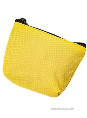 JANEMO Small Coin Purse Pouch Portable Durable Canvas Purse Zipper Change Purse,Used for Storing Small Items,Cosmetics,Change,Necklace,Yellow