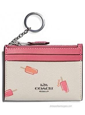 COACH Womens Mini Skinny Id Case With Popsicle Print Chalk Multi