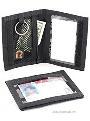 Dual Sided ID Holder. Minimalist Front Pocket. Purse Wallet. Slim. Hook n Loop. USA Made