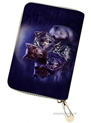 GePrint Fashion Sloth Pattern RFID Blocking with 18 Card Slots Zipper Card Case Holder Leather Wallet for Women Men Boy Girls