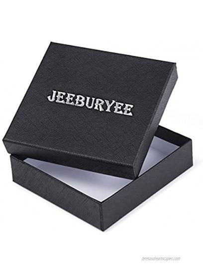 JEEBURYEE Womens RFID Blocking Credit Card Holder Small Leather Accordion Wallet
