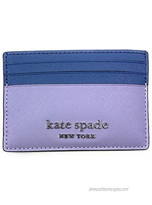 Kate Spade cameron monotone small slim card holder Wallet in Frozenlilacm