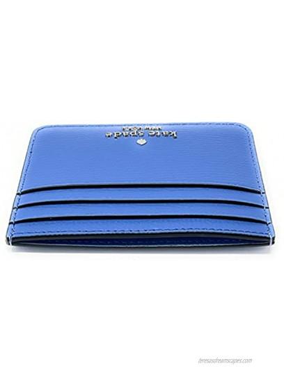 Kate Spade Darcy Small Slim Card Holder Case Wallet Deep Cornflower Blue