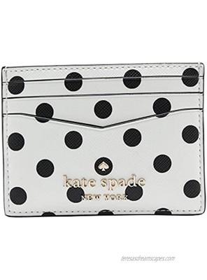 Kate Spade New York Staci Dot Dot Dot Small Slim Card Holder Cream Multi