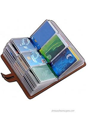 RFID Credit Card Holder book ,Leather Business Card Organizer for Women Men 96 Card Slots Black