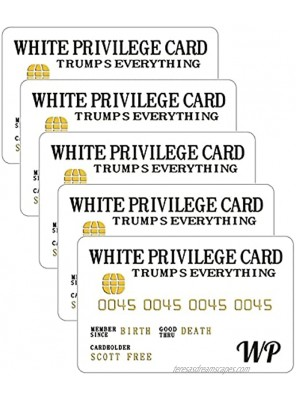 White Privilege Card-Inspirational Wallet Card Gifts Decoration Credit Card for Women & Men,Wallet Insert Card Joke Gag Gifts,Symbolizing Happiness and Success5PCS