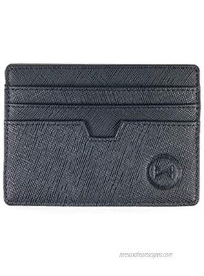 Women Slim Minimalist Card holder wallet Front Pocket RFID Blocking Leather card case w ID slot for Men business travel