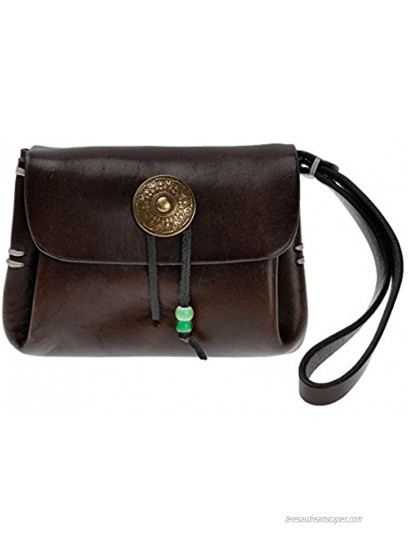 ZLYC Retro Chic Handmade Leather Card Holder Coin Purse Slim Change Pocket Wallet with Wrist Band