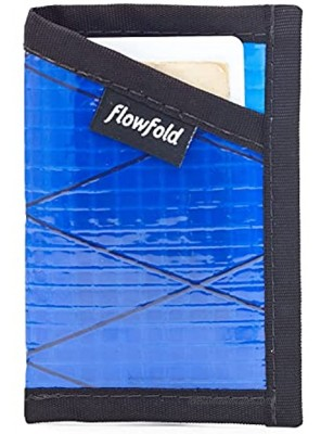 Flowfold Recycled Sailcloth Minimalist Card Holder Durable Slim Wallet Front Pocket Wallet Card Holder Wallet Made in USA