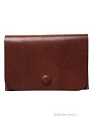 InsNatuSig Slim Leather Card Case Wallet Credit Card Holder